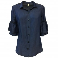 ETiCi Woman denim shirt 3/4...