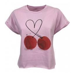 EMPATHIE T-shirt donna rosa...