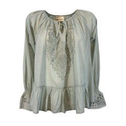 SEMICOUTURE sage green long...