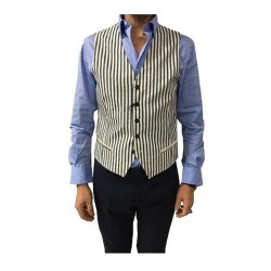 ROYAL ROW gilet uomo righe...