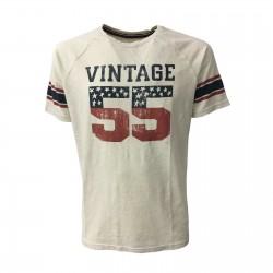 VINTAGE 55 man t-shirt ecru...