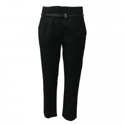 TELA woman trousers black...