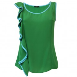 HANITA woman green top with...